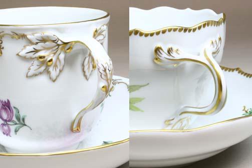 KPMのカップの金彩,マイセンのカップの金彩