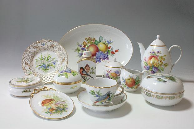 マイセンフルーツブーケ, マイセンバード, 白い花